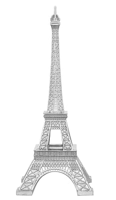 Three Hands Co. Resin Eiffel Tower Sculpture; Silver