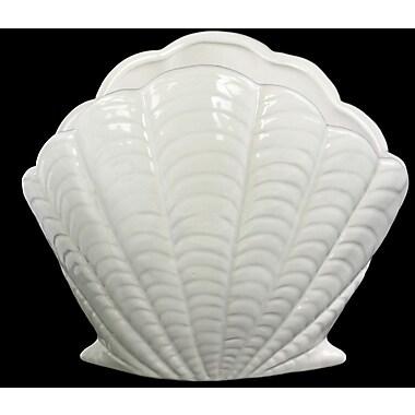 Urban Trends Ceramic Clam Figurine; White