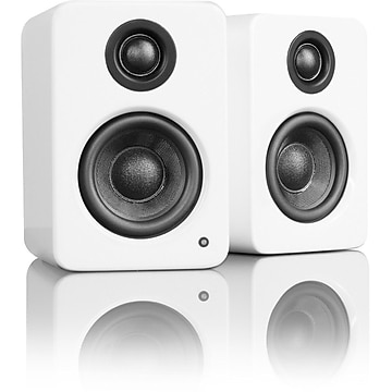 Kanto YU2 Powered Desktop Speakers with Built-in USB DAC, 50W RMS, Matte White