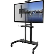 "Kanto MTM82PL Mobile TV Mount with Adjustable Shelf for 50"" to 82"" TVs"