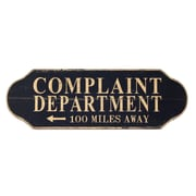 Wilco Home Inspire Me Wood Wall ''Complaint Department'' Wall D cor