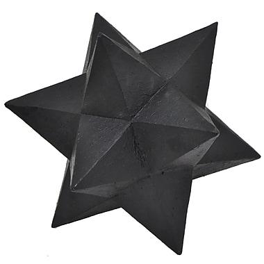 Three Hands Co. Star Orb Sculpture; Black