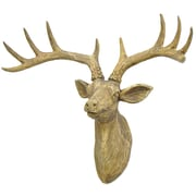 Three Hands Co. Resin Deer Wall D cor; Brown