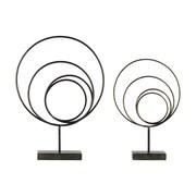 Urban Trends 2 Piece Metal Abstract Sculpture Set