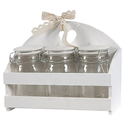 A&B Home Minnie 3-Jar Spice Rack