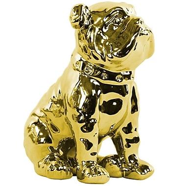 Urban Trends Ceramic Sitting British Bulldog Figurine
