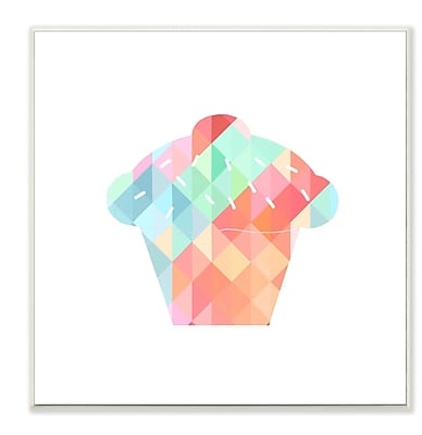 Stupell Industries Graphic Rainbow Cupcake Wall Plaque
