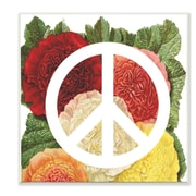 Stupell Industries Peace Sign w/ Flowers Wall Plaque