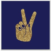 Stupell Industries Peace Hand Gold Wall Plaque