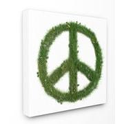 Stupell Industries Grass Peace Sign Framed Giclee Texturized Art