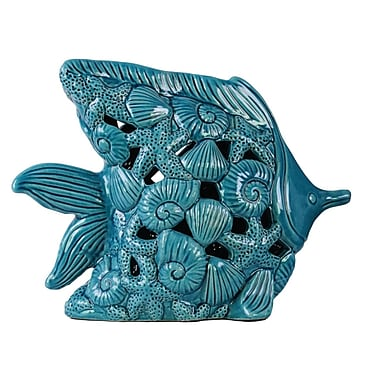 Urban Trends Fish Figurine; Blue
