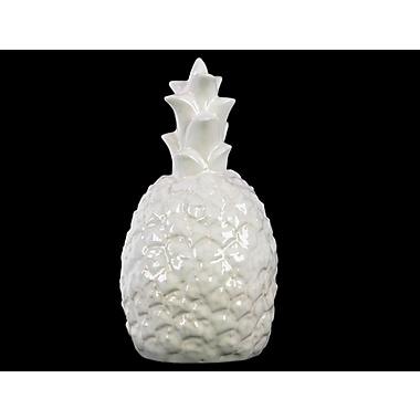 Urban Trends Pineapple Figurine; White