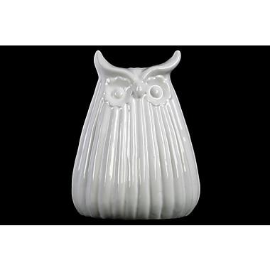Urban Trends Owl Figurine; White