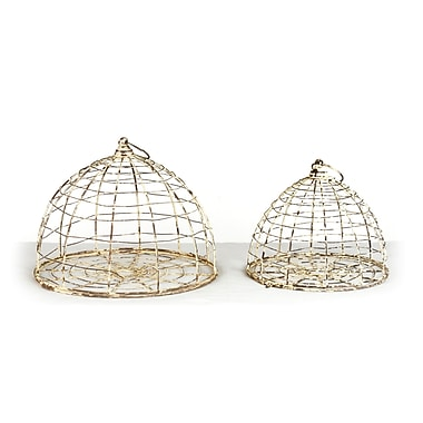 Zentique Inc. 2 Piece Decorative Bird Cage Set