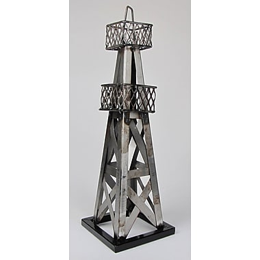 Metrotex Designs Decorative Oil Derrick Table; Natural Steel Lacquered
