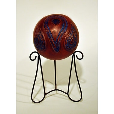 Metrotex Designs Southwest Paisley Kashmir Sphere Decorative Urn w/ Stand