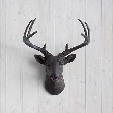 Wall Charmers Virginia Faux Taxidermy Mini Deer Head Wall D cor; Black