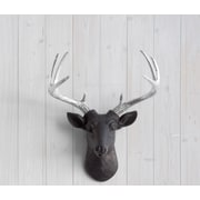 Wall Charmers Virginia Faux Taxidermy Mini Deer Head Wall D cor; Black/Silver