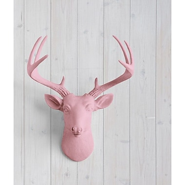 Wall Charmers Virginia Faux Taxidermy Mini Deer Head Wall D cor; Blossom Pink