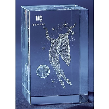 YTC Summit International Decorative Virgo Zodiac Crystal Cube