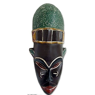 Novica Mystery Woman Beninese Wood Mask Wall D cor