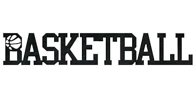 7055 Inc Basketball Word Wall D cor; Hammered Black