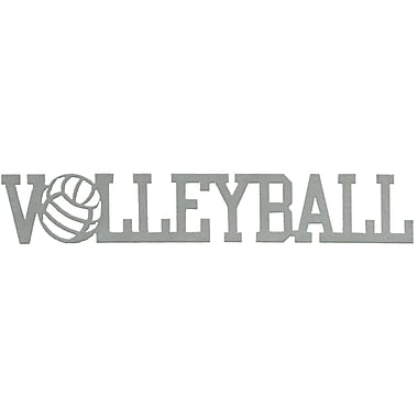 7055 Inc Volleyball Word Wall D cor; Hammered Silver