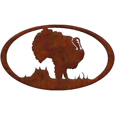 7055 Inc Turkey Oval Wall D cor; Natural Rust Patina