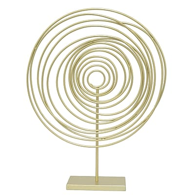 Three Hands Co. Spiral Sculpture; 26'' H x 20'' W x 4.5'' D