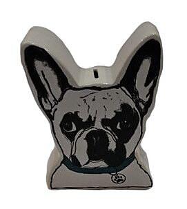 Sagebrook Home Ceramic Pug Coin Piggy Bank