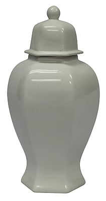 Sagebrook Home Ceramic Decorative Urn; 19'' H x 8.5'' W x 8.5'' D WYF078280028404