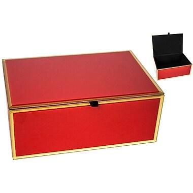 Sagebrook Home Decorative Box; Red