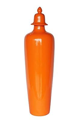 Sagebrook Home Ceramic Covered Jar; 28'' H x 7.75'' W x 7.75'' D