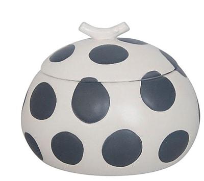 Sagebrook Home Decorative Ceramic Covered Polka Dot Box