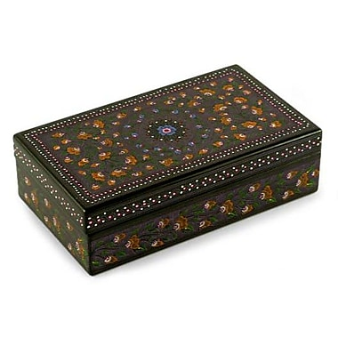 Novica Floral Fantasy Hand Crafted Wood Decorative Box