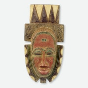 Novica Fia African Tribal Chief Wood Wall Mask Carved Wall D cor