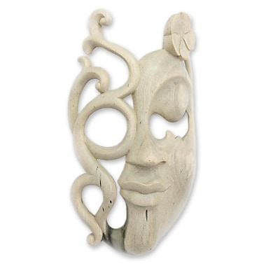 Novica Flower Spirit Wood Mask Wall D cor