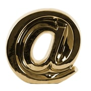 Urban Trends Alphabet Symbol '@' Wall Decor; Gold