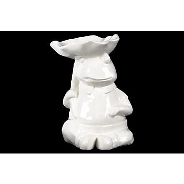 Urban Trends Sitting Frog Figurine; White