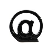 Urban Trends Alphabet Symbol '@' Wall Decor; Black