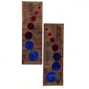 7055 Inc 2 Piece Glow Worms Wall D cor Set; Red/Blue