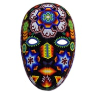 Novica Peyote Crown Beadwork Mask Wall D cor