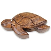Novica Decorative Turtle Wisdom Wood Puzzle Box