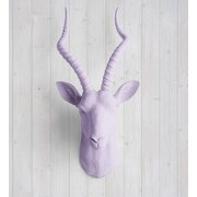 Wall Charmers Maasai Faux Taxidermy Antelope Head Wall D cor; Lavender