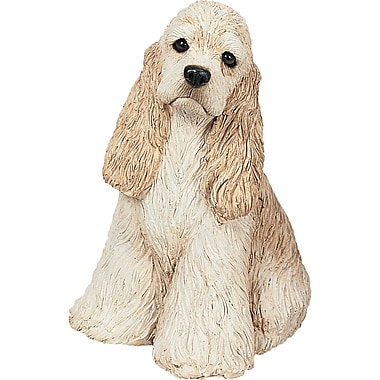 Sandicast Mid Size Sculptures Cocker Spaniel Figurine; Buff