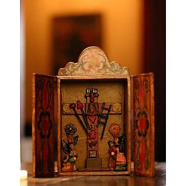 Novica Cross of Lamentation Painted Wood Retablo