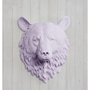 Wall Charmers Kodiak Faux Taxidermy Bear Head Wall D cor; Lavender