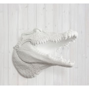 Wall Charmers Nile Faux Taxidermy  Alligator Head Wall D cor; White