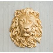 Wall Charmers Saharan Faux Taxidermy Lion Head Wall D cor; Gold