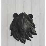 Wall Charmers Saharan Faux Taxidermy Mini Lion Head Wall D cor; Black